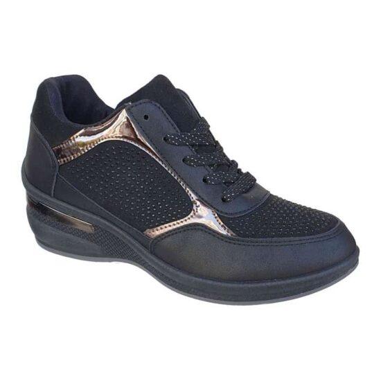 Sneakers BLONDIE 07/136 ΜΑΥΡΟ